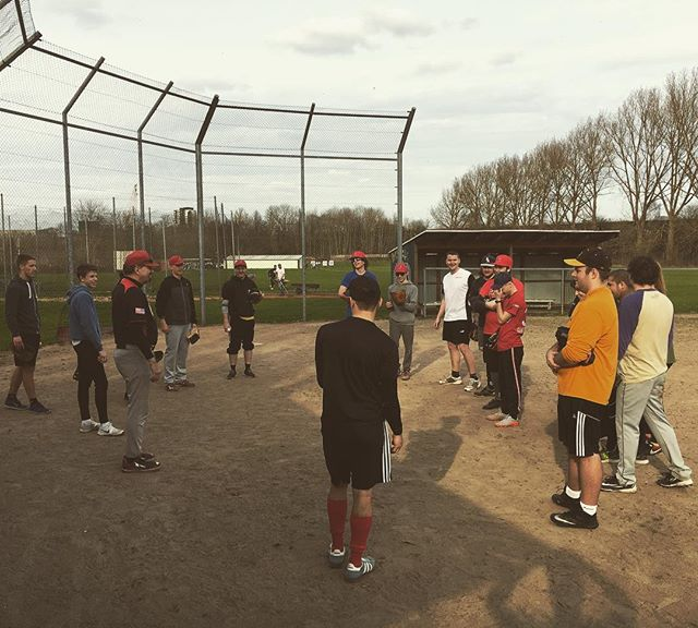 Nice turnout at this weeks baseball practice