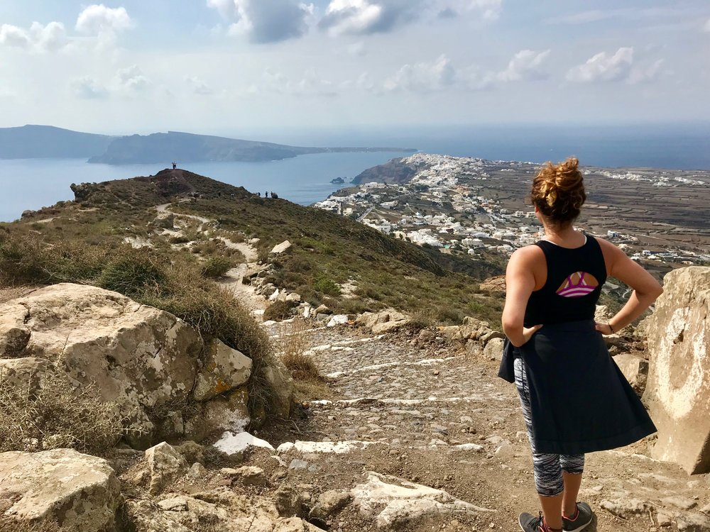 Around the one-of-a-kind caldera rim to really soak in the Santorini view. From the main town Fira all the way to Oia, the Traditional Path is accessed right in front of Anita's Villa