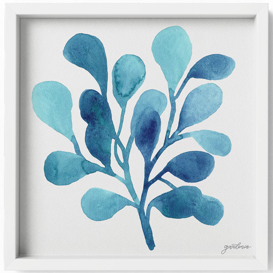 Ocean Illustrations Collection part II Framed Art Print