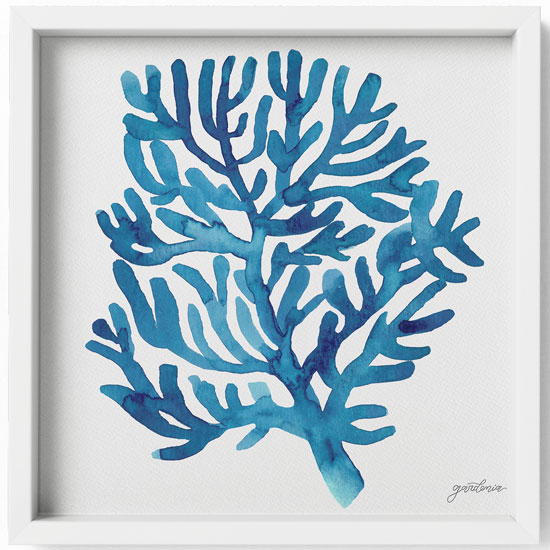 Ocean Illustrations Collection Part IV Framed Art Print