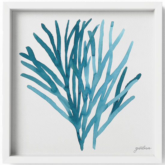 Ocean Illustrations Collection Part I Framed Art Print