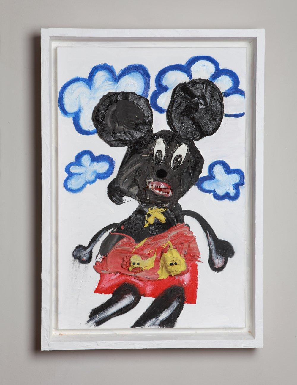 Mickey Mouth, 76.5 x 50.6 x 10 cm, 2019.