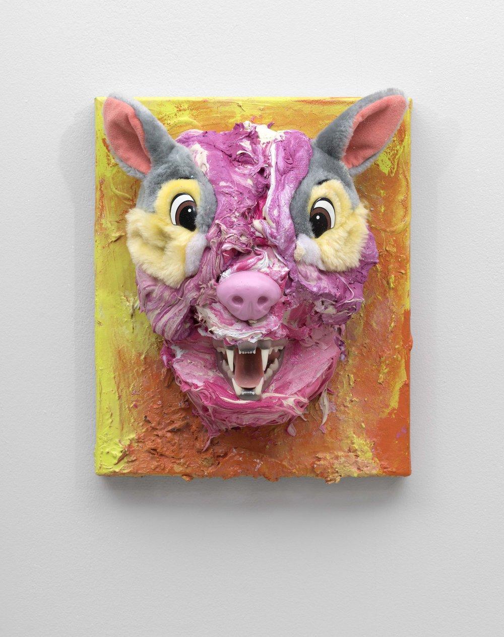 Thumper on Steroids, 30.5 x 26 x 16 cm, 2019.