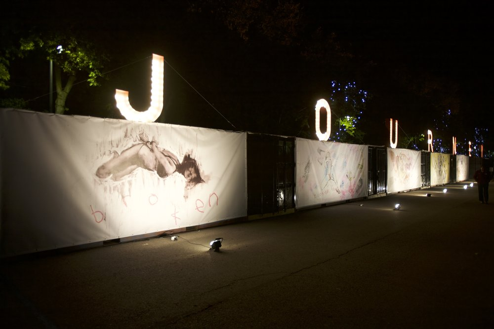 The Journey at night, Madrid, 2009.