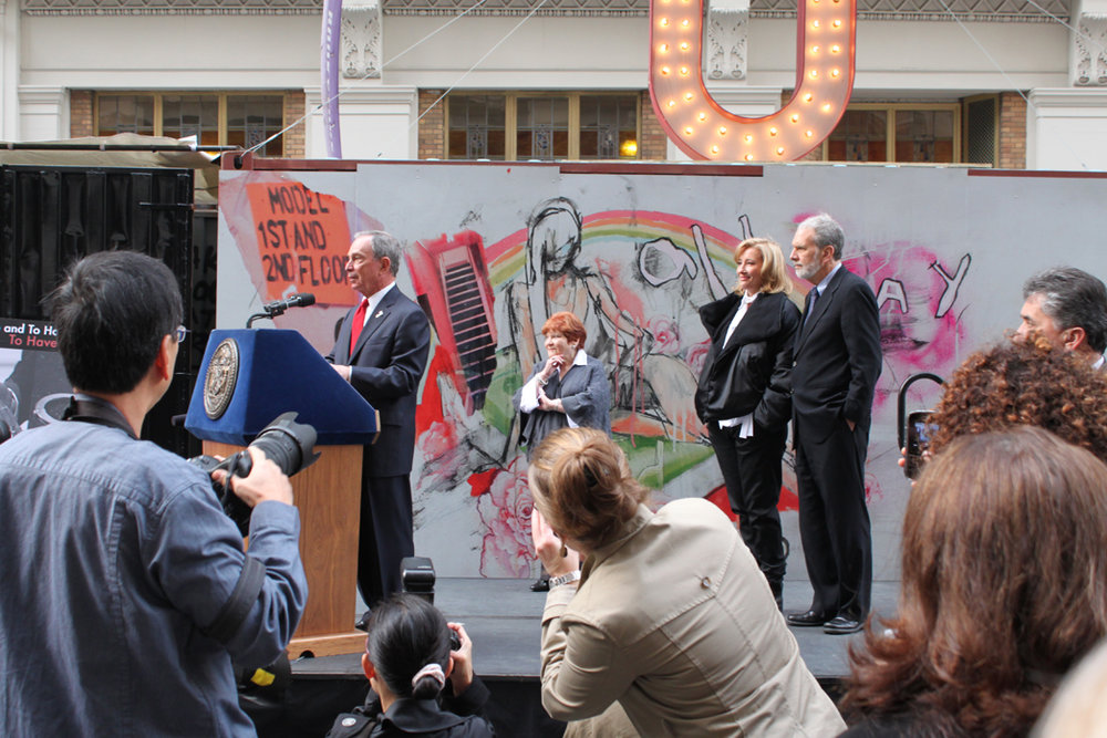 Mayor Michael Bloomberg speaking about The Journey, New York, 2009.