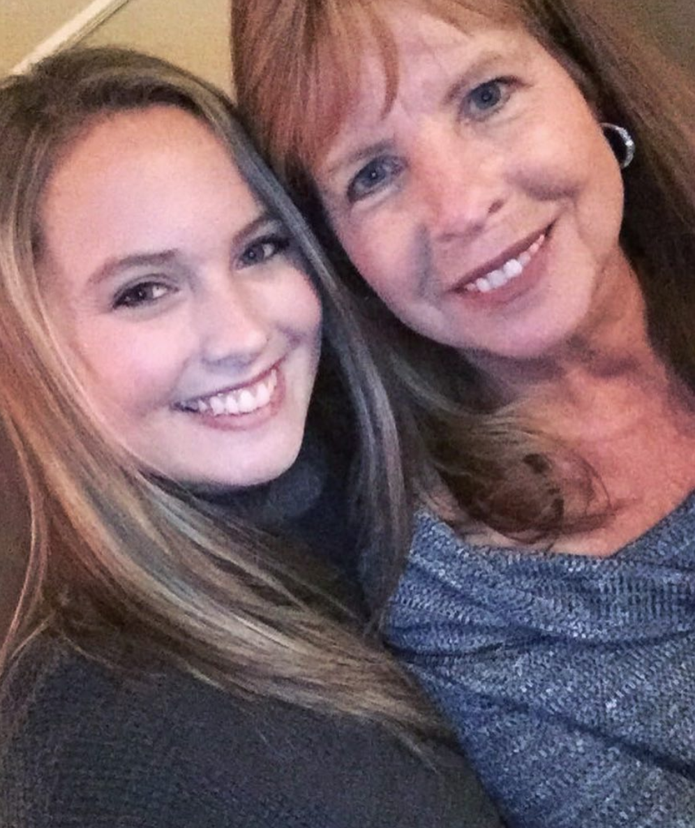 Danielle and her mom.