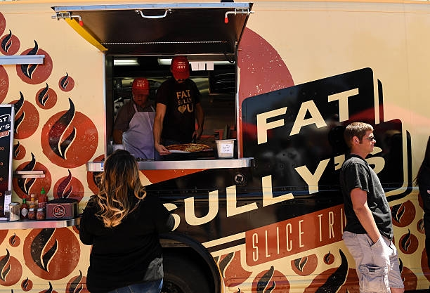 In attendance: Fat Sully's Slice Truck