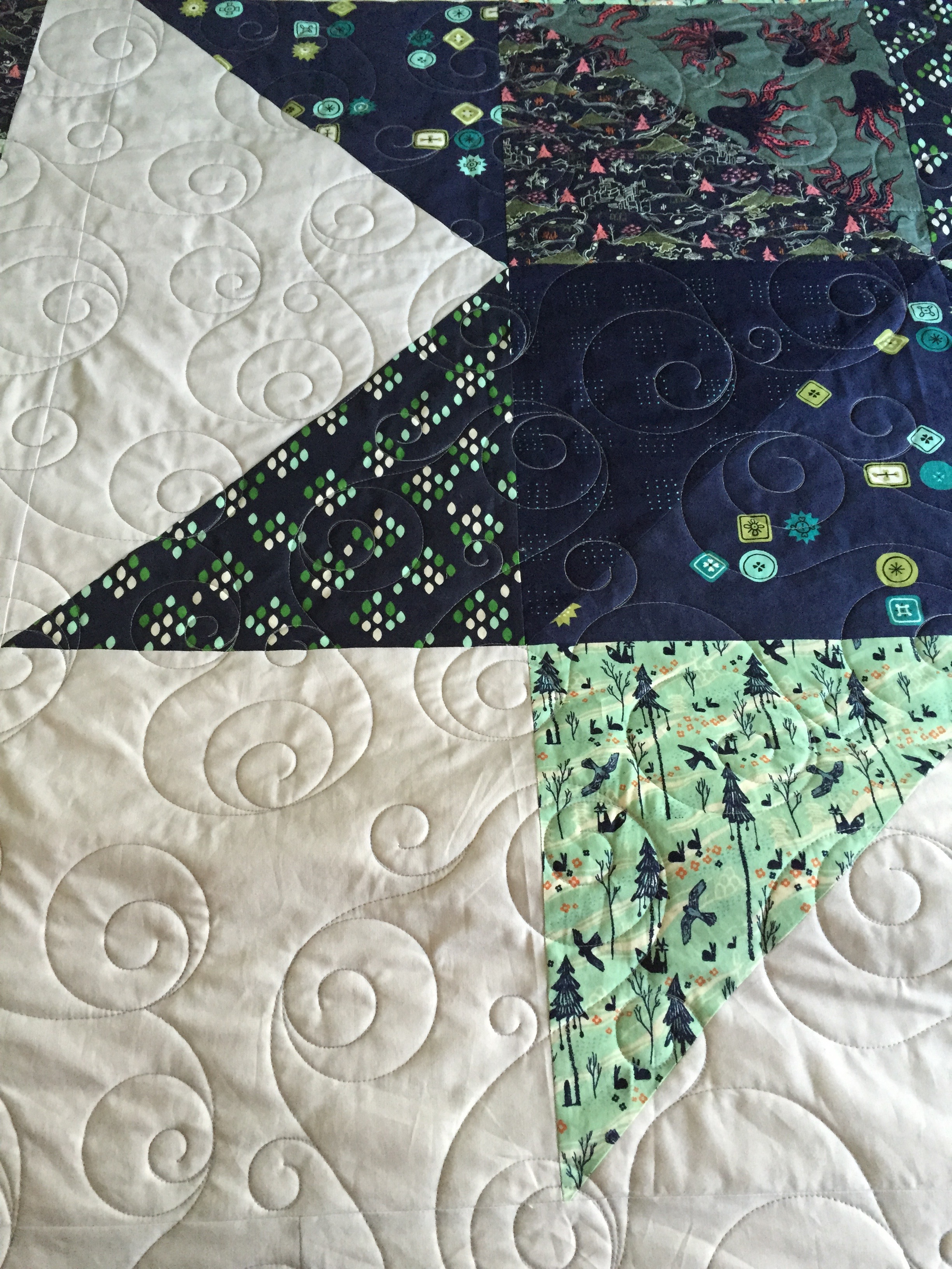 star quilt quilting detail