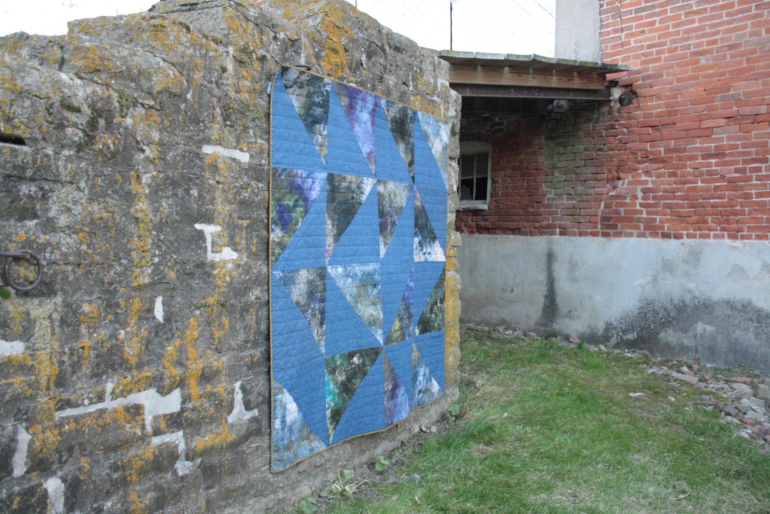 ice dye Vast quilt