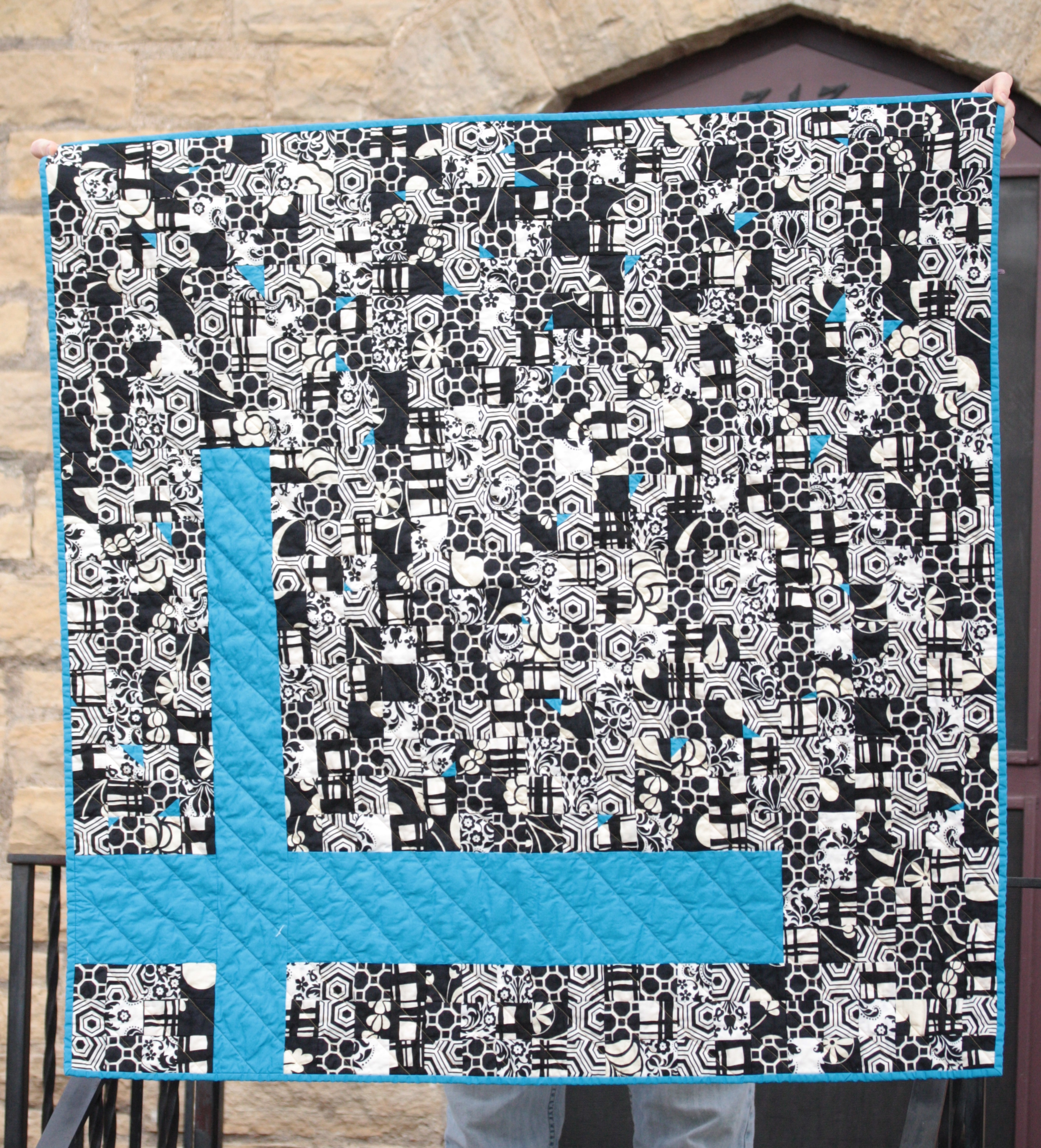 blue cross quilt