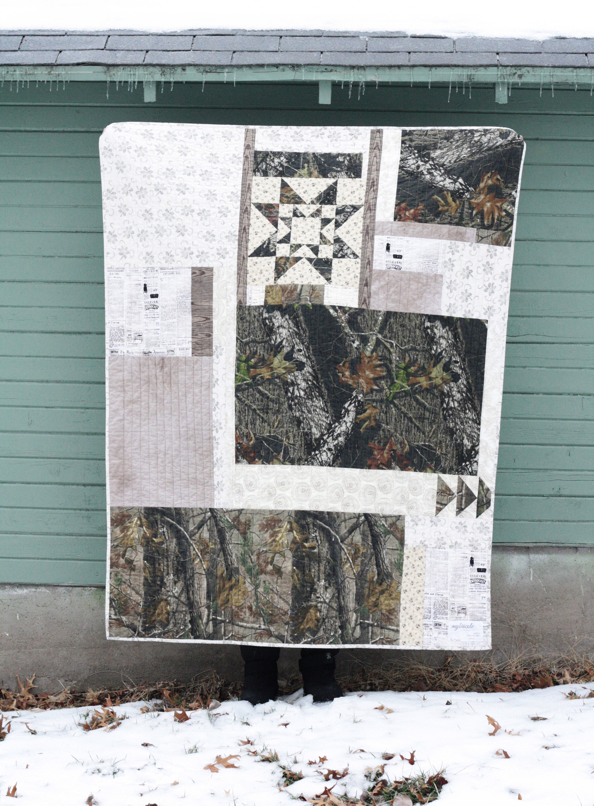 camouflage quilt back
