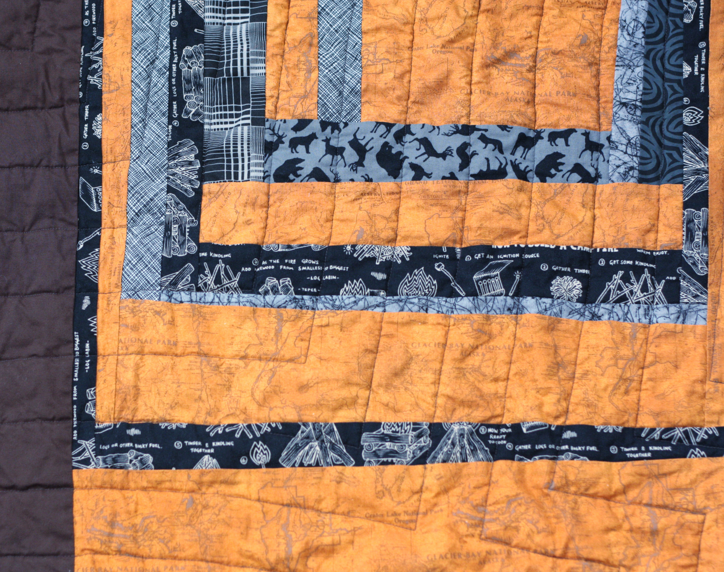 back of parks quilt detail