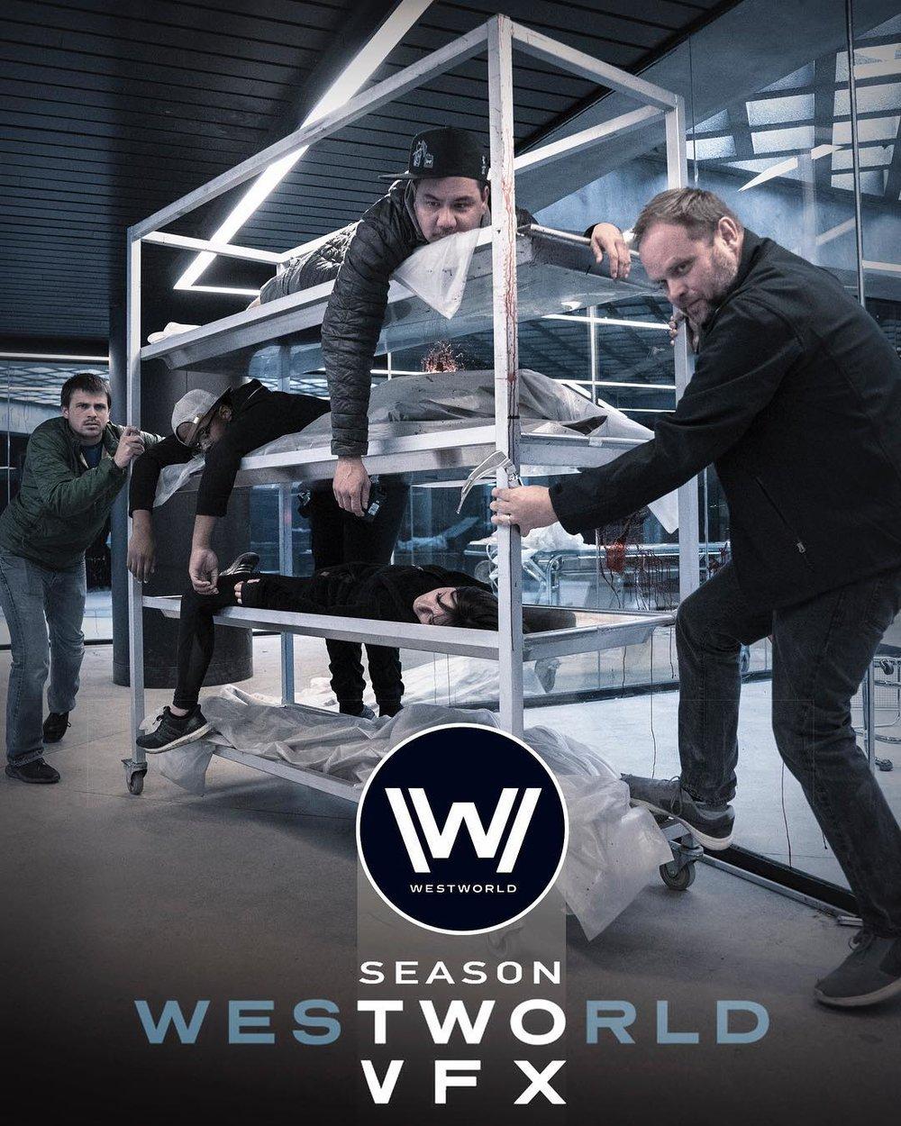Westworld Season 2 on-set VFX crew photo