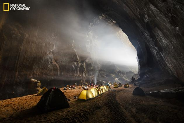 Camping inside Hang Son Doong by Ryan Deboodt