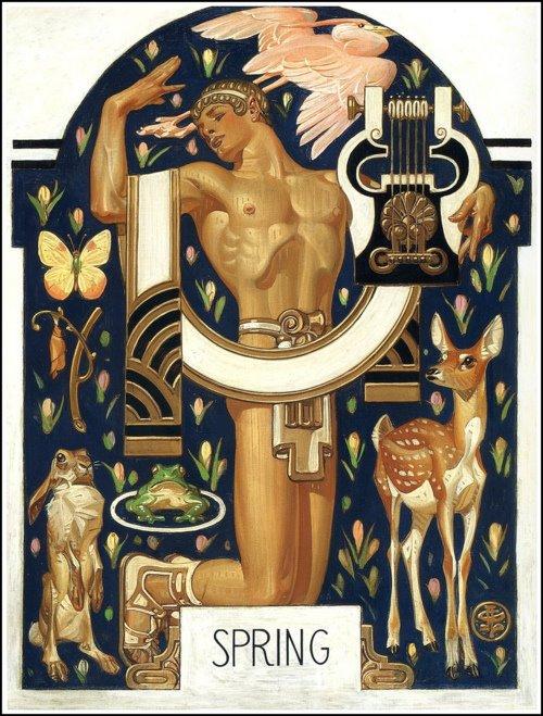 J.C. Leyendecker Spring