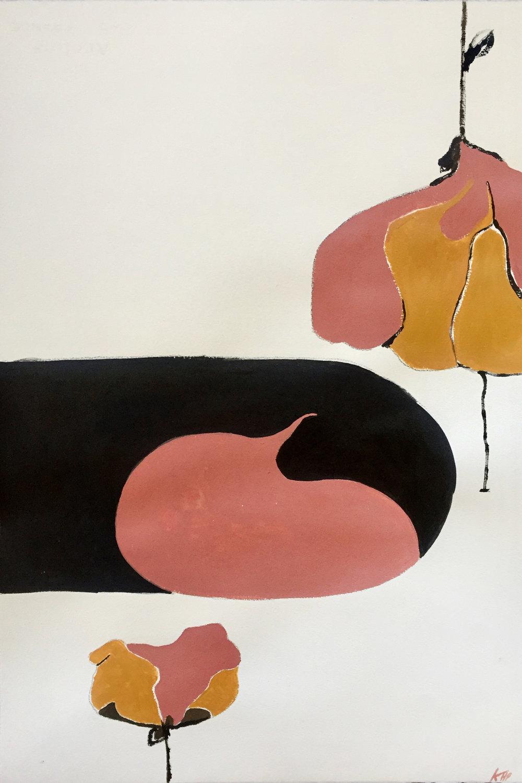 Blocks , 2018, 22x15, Acrylic on paper