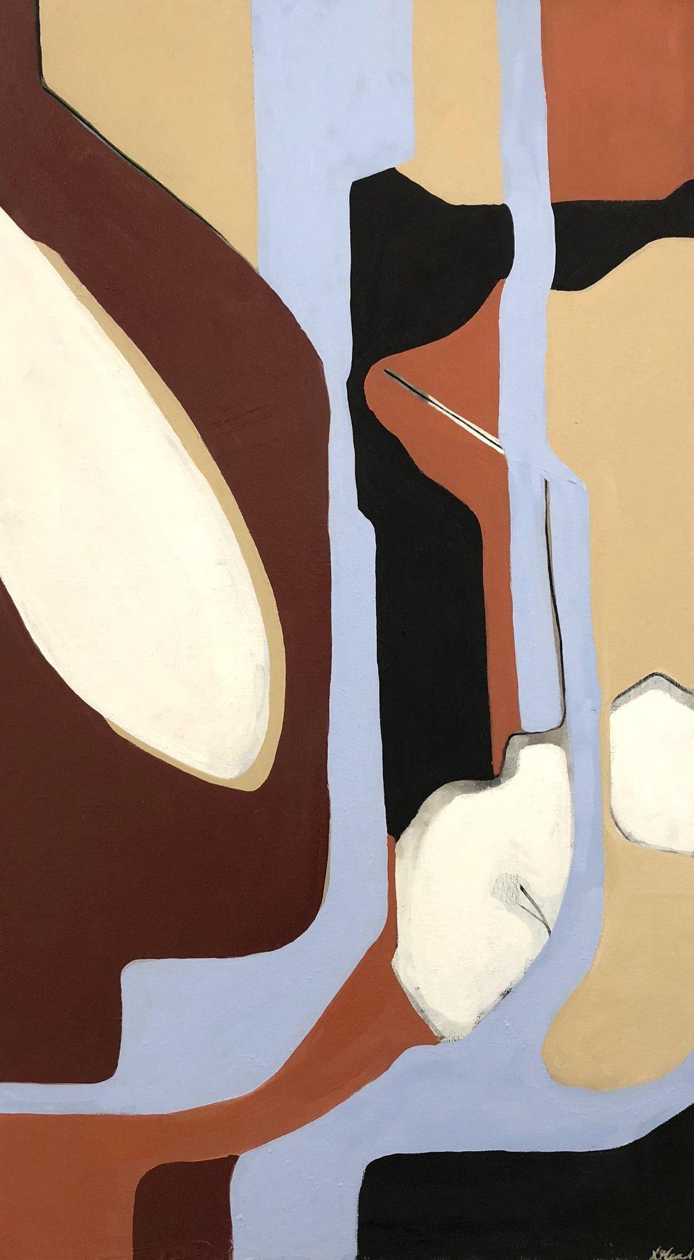 Shape Language , oil on canvas, 2018, 45x24