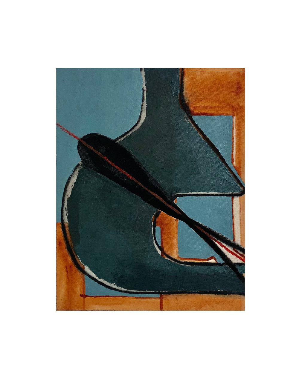 Splintered , oil on canvas, 2018, 12x10