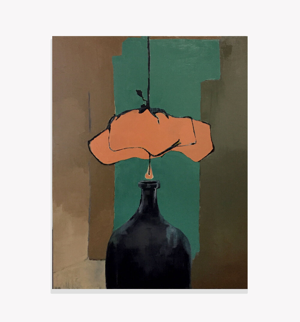 Not So Still Life , oil on canvas, 2018, 24x18  Prints available click here