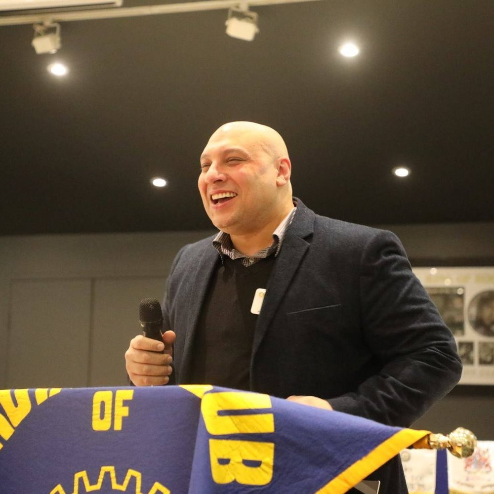 Our Clinical Manager Khaled giving a speech about Medwest at Rotary Keilor East .jpg