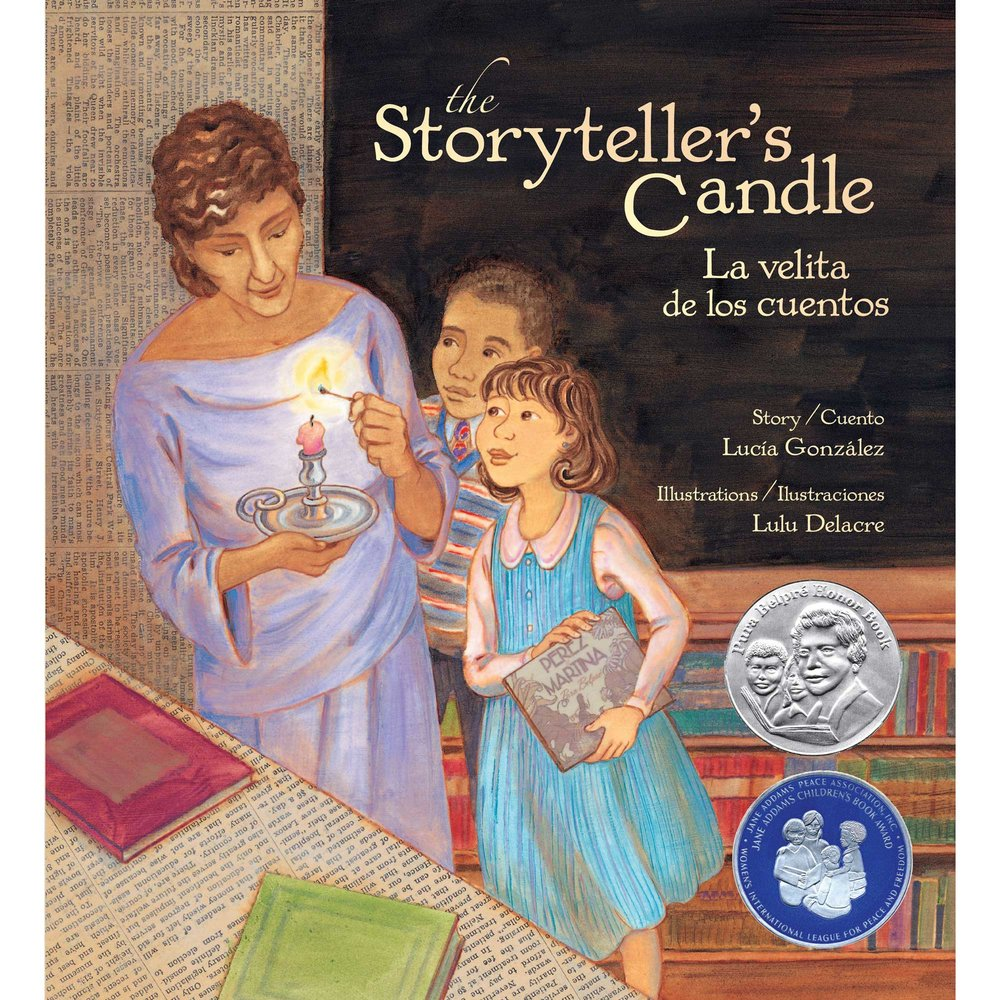 the storytellers candle childrens book by lulu delacre