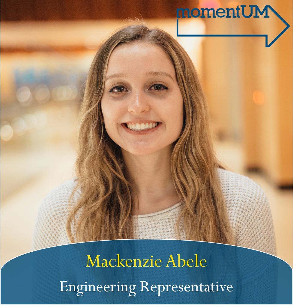 As a student in STEM, Mackenzie am very passionate about improving the campus environment experienced by STEM students. She is focused on developing easily accessible resources for students to be aware of and use. Her goal is to make every STEM student feel that their hard work will result in the outcomes that they are striving towards.