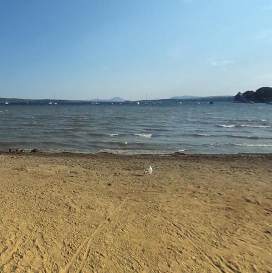 lA PLAGE DES CANTONS  Profitez à plein de votre journée au Marché. Quel marchévous permet de remplir un sac de victuailles et de se prélasser sur le bord d'un magnifique lac en même temps? Une équipe de sauveteurs qualifiés assure la surveillance du Lac Memphrémagog pour une journée relaxante. Reliée au réseau cyclable La Montagnarde, cette plage est accessible sans frais, à pied, à vélo ou en auto.