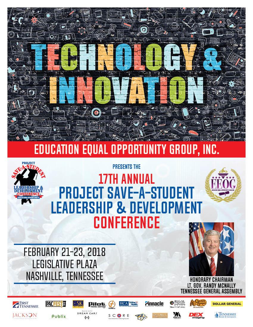 17th Annual Project Save A Student - Saturday, February 21-23, 2018EEOG presents 17th Annual Project Save A Student, Leadership & Training Conference @ Legislative Plaze.