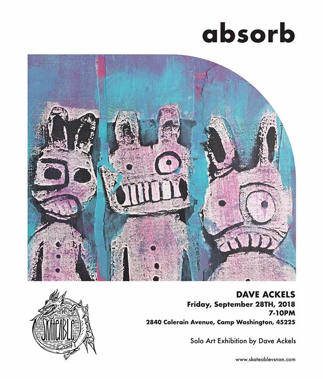 JUST ANNOUNCED: • Next week, Dave Ackels will be at SkateAble, Friday September 28th, 7-10pm! • Starting today, SkateAble will be open: Wednesday: 12-5pm (in addition to Open Skate Night) Friday: 12-5pm • See ya there!