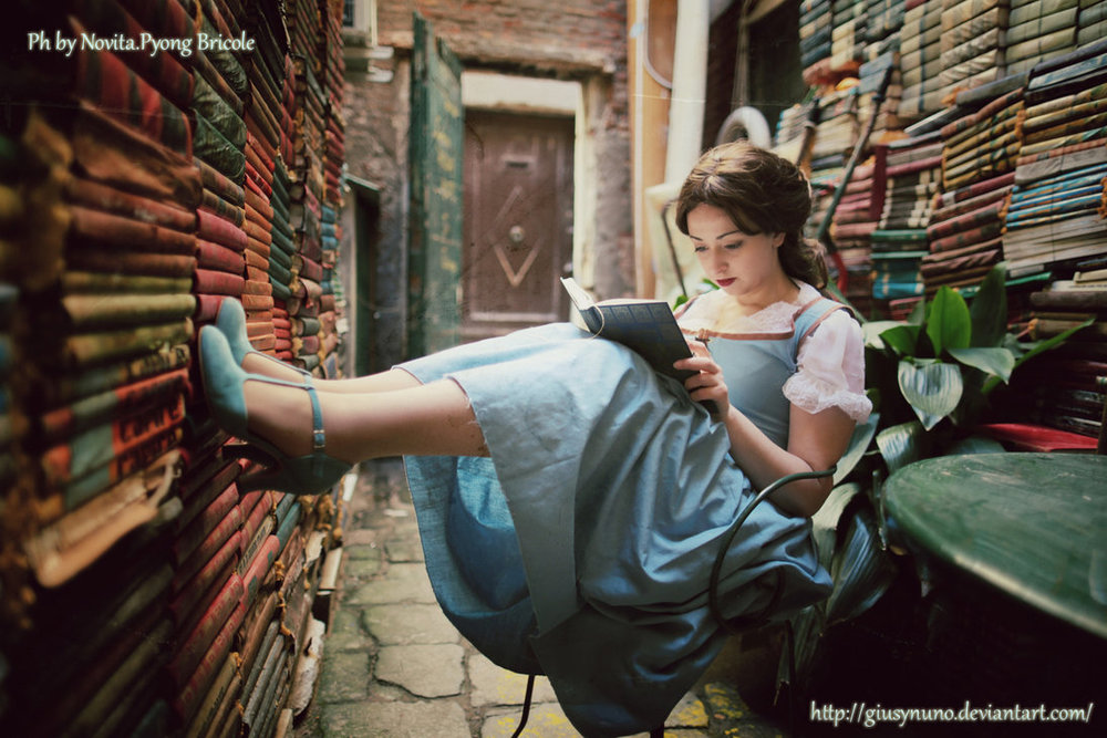 Photo credit: Lost in my world of books - Belle by  giusynuno