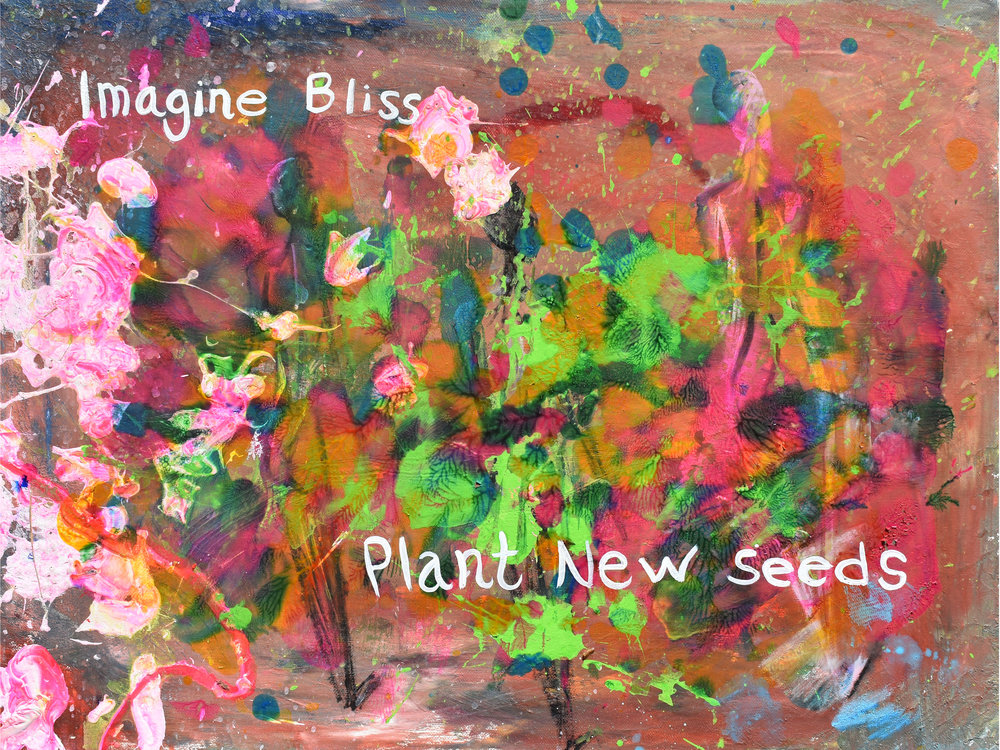 New Seed  Oil and tempera on canvas, 24x18''