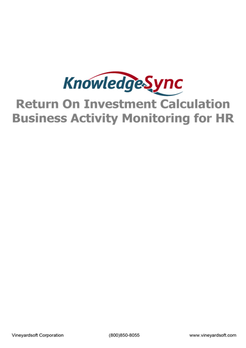 knowledge sync roi calculation for hr -