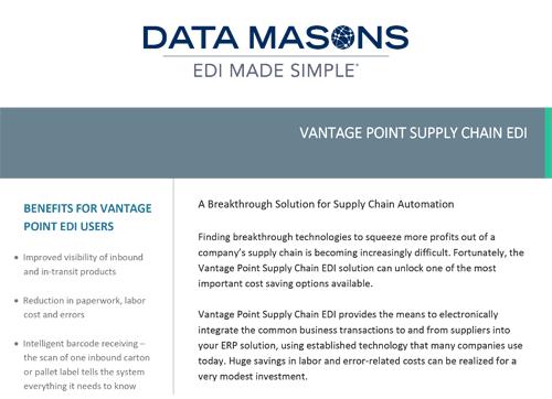 DATA MASON'S VANTAGE POINT EDI -