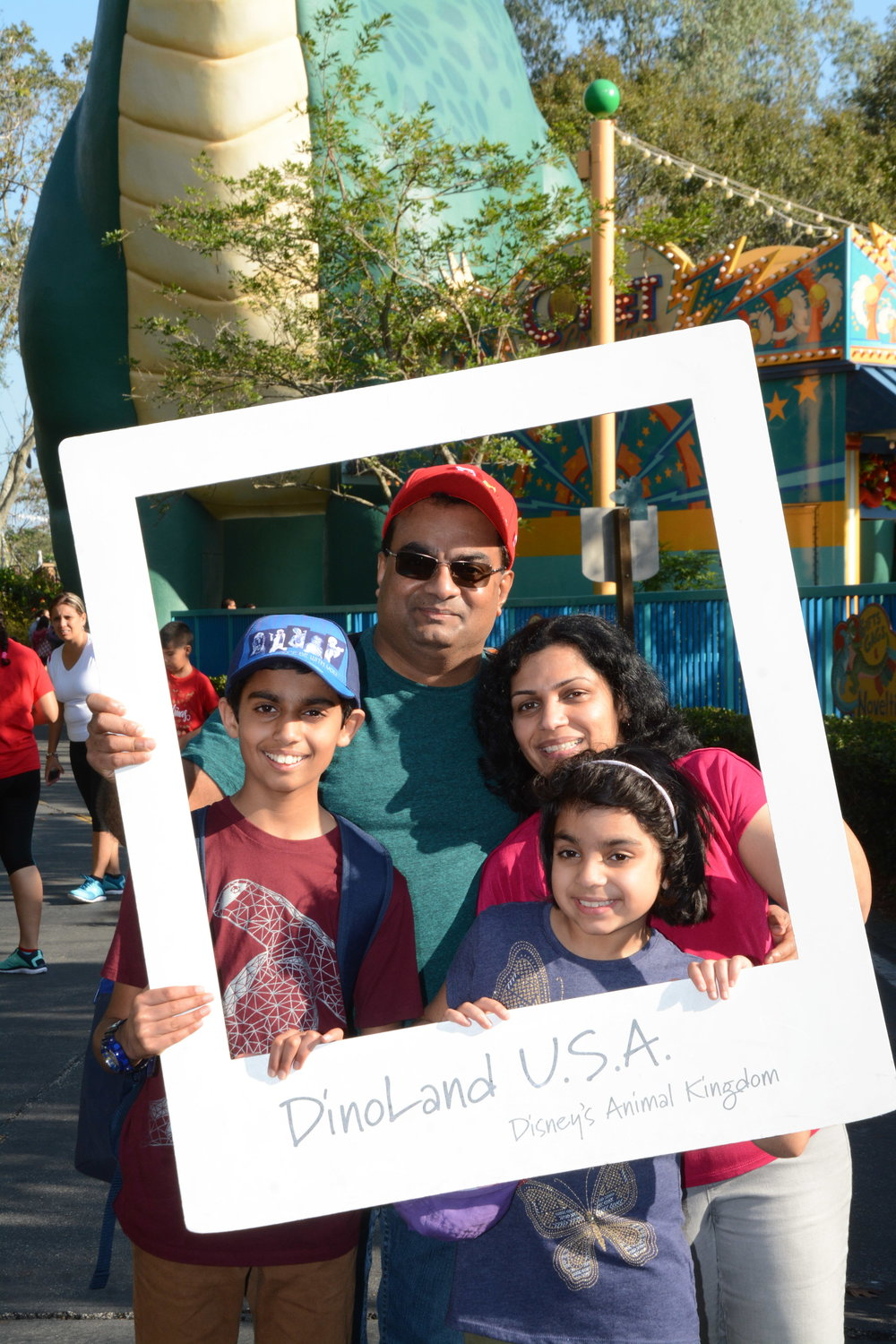 Team #Manjaly loves a family vacation. They recently took over Disney! Meet Thushara, Bji's wife and their two children, Matthew and Maria.