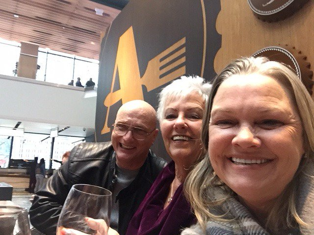 Nick, Pat and Leslie at an industry event having a blast last spring.