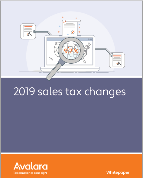 avalara's 2019 sales tax changes -