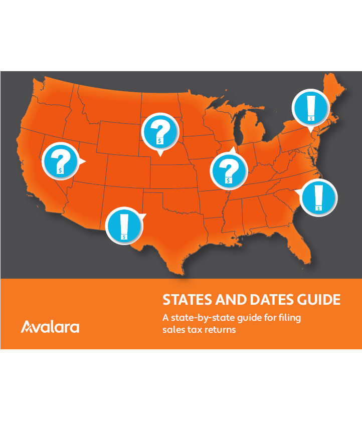 Avalara's states and dates Guide -