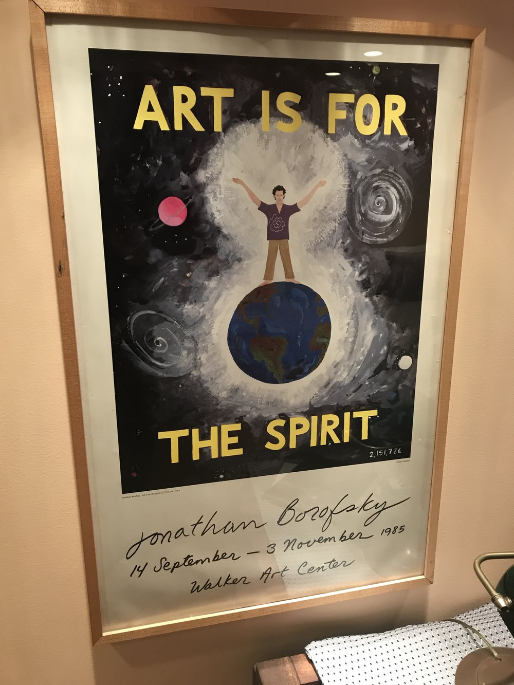 """Art is for the Spirit, 23""""x25"""", $15"""
