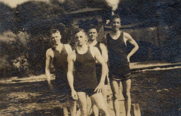 1920 (with Mattox, Erdman, Unidentified, Howes)