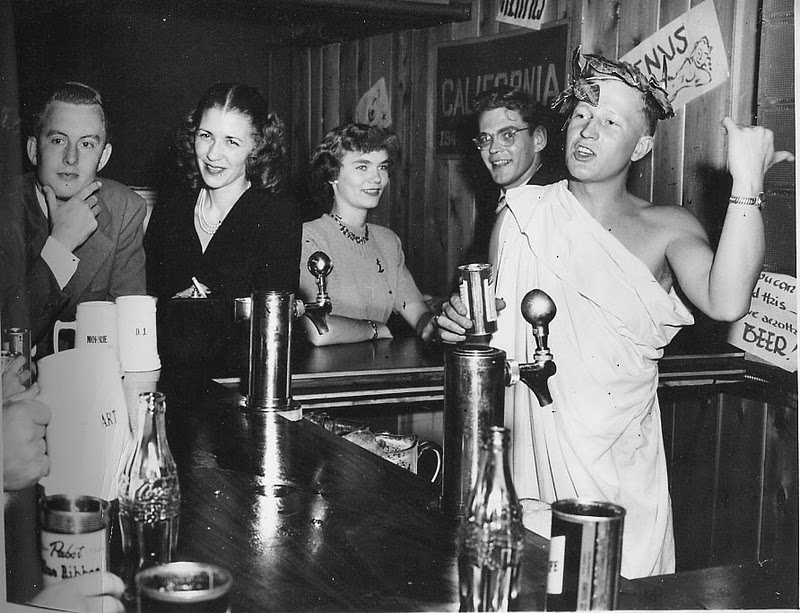 1949 October Toga Party (with Dick Falck '50)