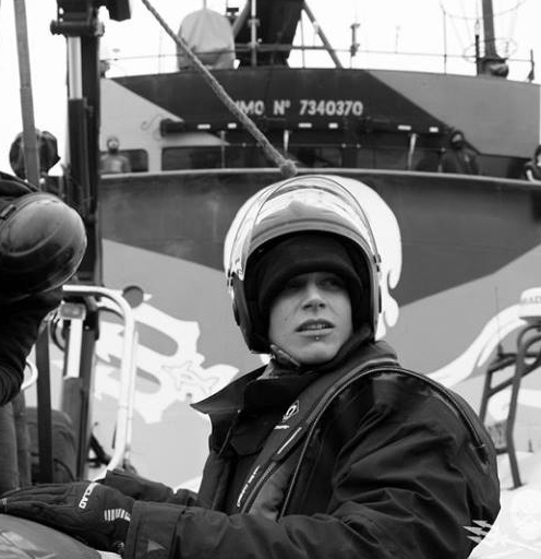 Crew member of Sea Shepherd and environmental activist. -