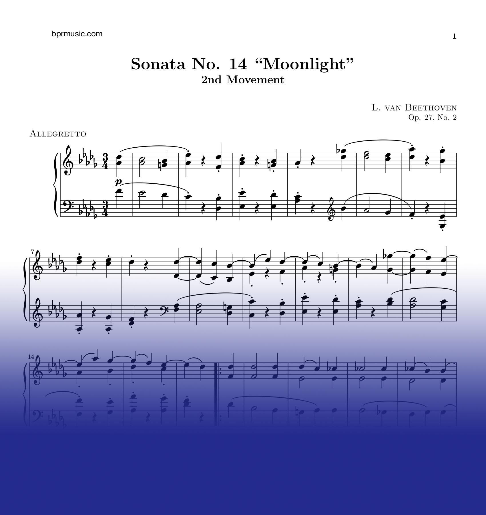 Moonlight Sonata 2nd movement — bprmusic com