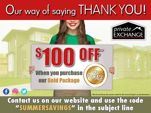 "We are proud to based right here in Windsor/Essex County. As a way of thanking everyone who has used our services to sell their homes and save huge amounts of money, we are offering $100 off when you or a friend purchases a ""Gold Package""  This is a limited time offer so contact us today to take advantage!!"