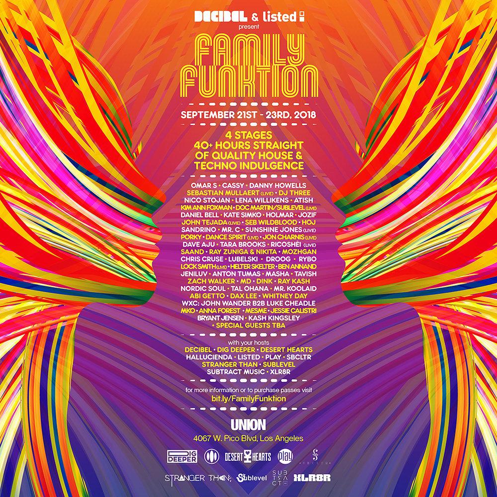 Family Function LA Decibal & LIsted - Zach Walker