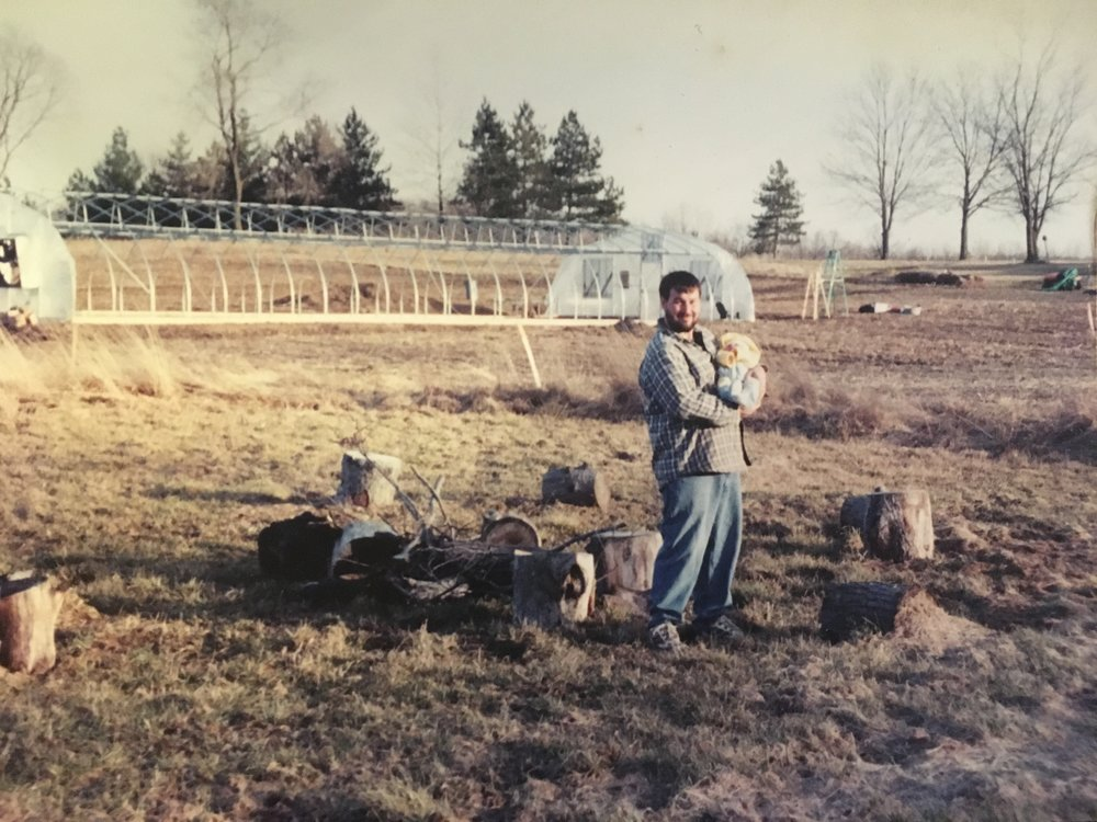 First foray into organic farming in 2001.