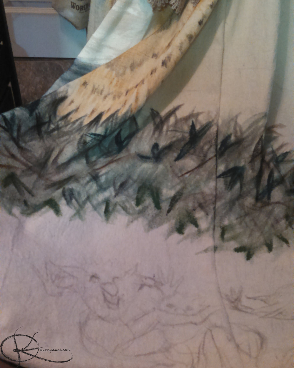 Skirt WIP 2: Firey Forest