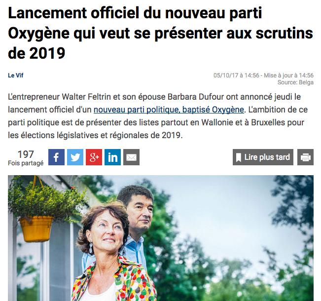 Le Vif, 05.10.2017