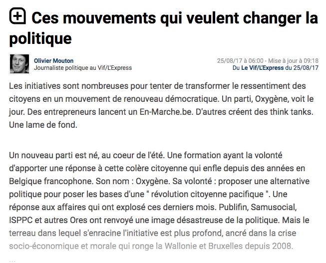 Le Vif, 25.08.2017