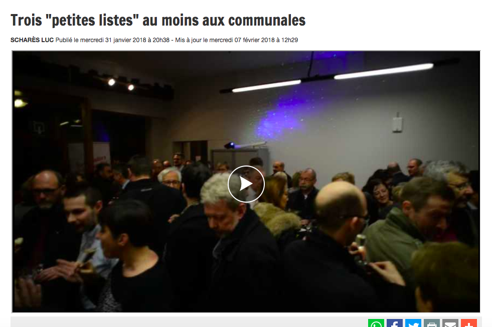 La DH/Les Sports, 31.01.2018