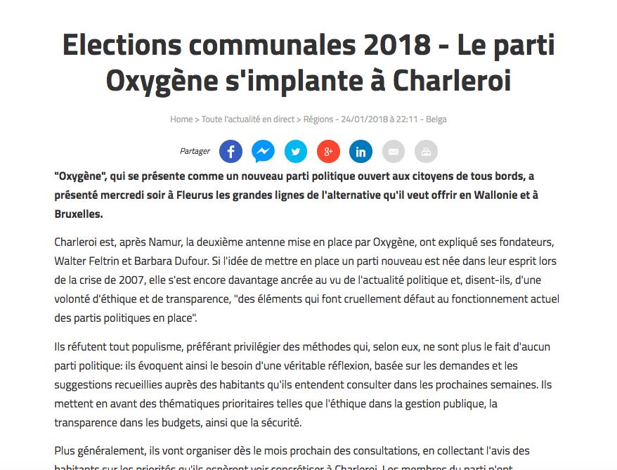 Vers l'Avenir, 24.01.2018